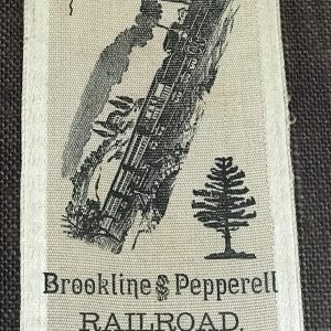 1892 Brookline & Pepperell Railroad Opening Day – Souvenir